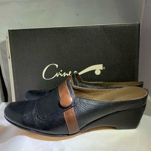 C'Vine 2 Toned Leather Comfort Mule Sz 6.5